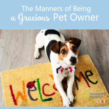 gracious pet manners