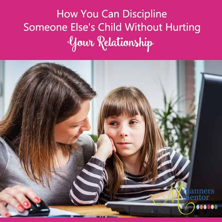 disciplining someone else's child