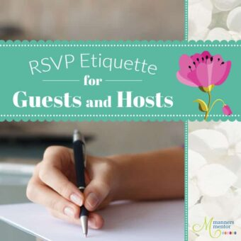 RSVP Etiquette for Host and Guests