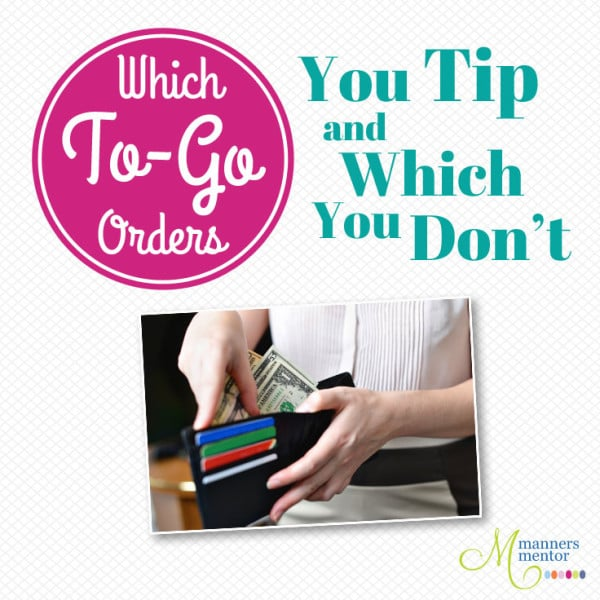 Which To-Go Orders You Tip and Which You Don't
