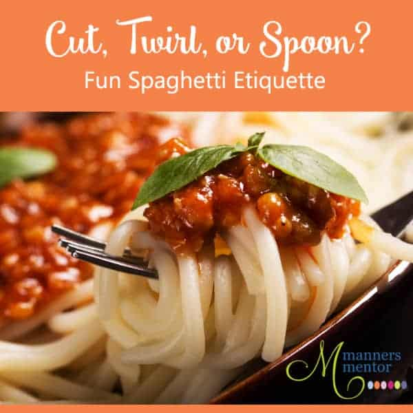 Cut, Twirl, or Spoon? Fun Spaghetti Etiquette