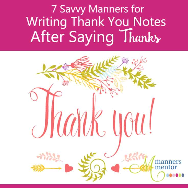 Etiquette For Writing Thank You Notes For Wedding Gifts : Savvy Manners for Writing Thank you Notes After Saying Thanks