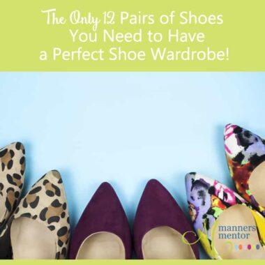 perfect shoe wardrobe