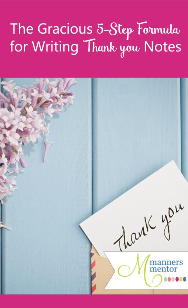 The Gracious 5-Step Formula for Writing Treasured Thank You Notes