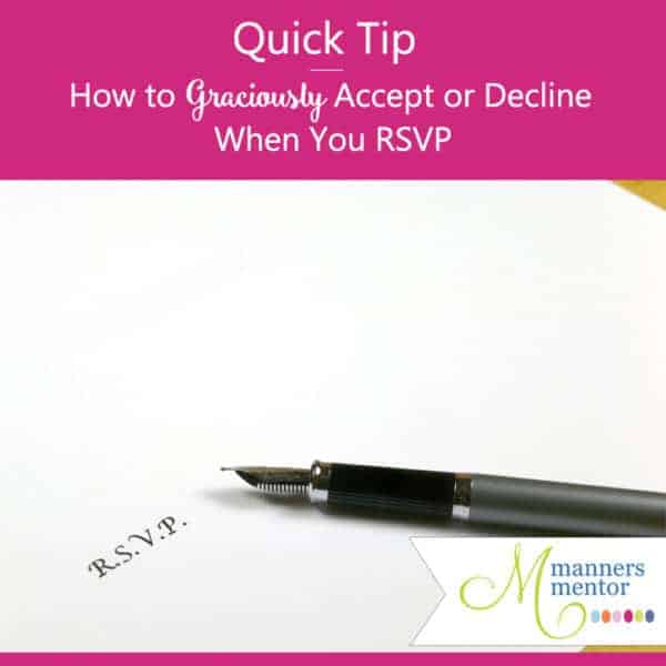 How to Graciously Accept or Decline an Invitation