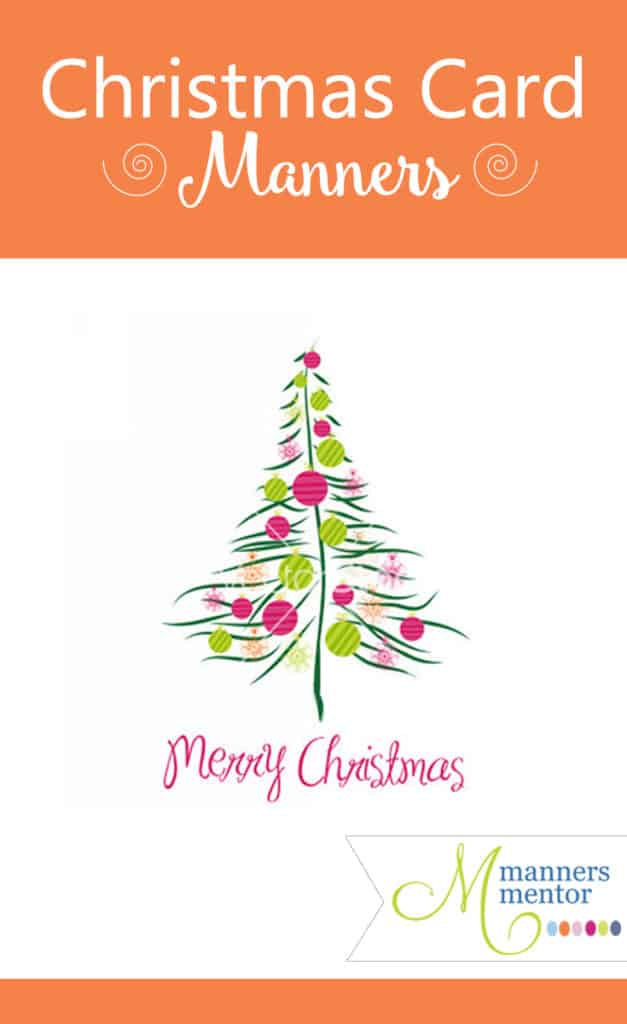 Christmas Card Manners