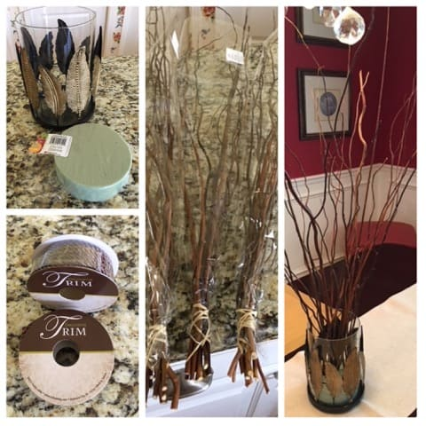 Items Used in Making a Gratitude Tree for Thanksgiving