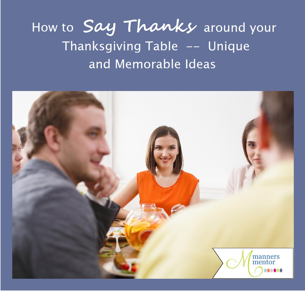 Say It Creative Personalized Shop: How To Say Thanks Around Your Thanksgiving Table