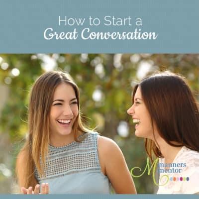 How We Start a Great Conversation