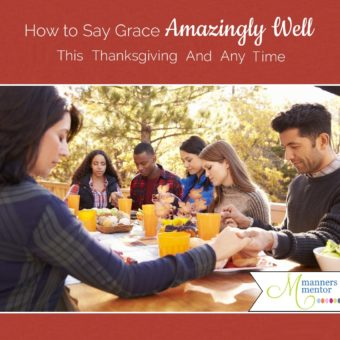 Saying grace or praying out loud is nerve wrecking for a lot of us. It took me years before I was brave enough to even pray among friends. If the thought of praying out loud makes you nervous too, here's help. In this post, you'll find the steps that will make saying grace or praying in public natural and easy for you! #thanksgiving #sayinggrace #prayer #thanksgivingdinner
