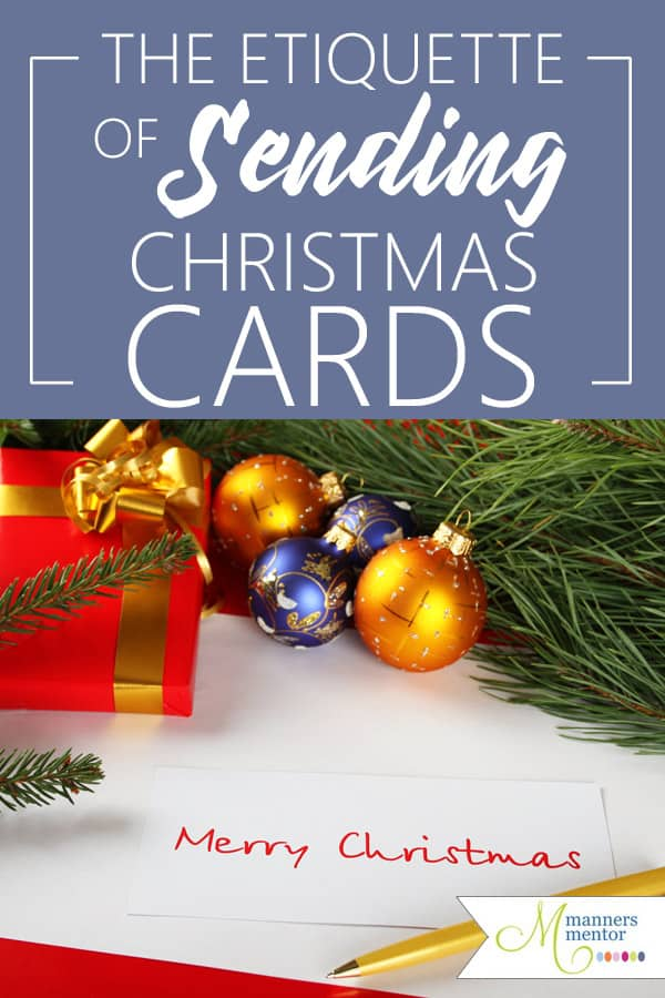 The etiquette of sending and receiving Christmas cards. #ChristmasCards #ChristmasTraditions #Christmas #Etiquette #Manners #ChristmasEtiquette