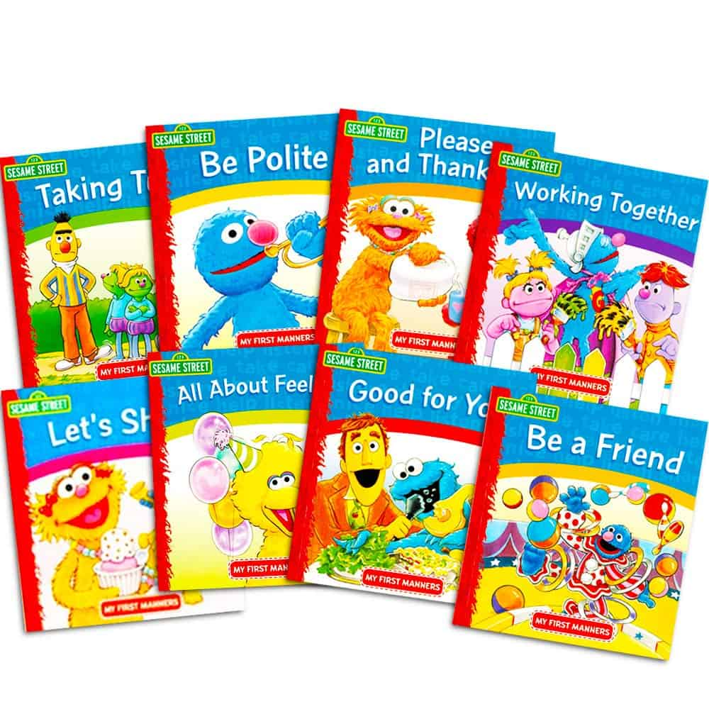 Ask Emily Post Etiquette: Sesame Street Elmo Manners Books For Kids Toddlers Set Of