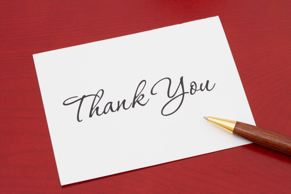 Writing help central letter of thanks